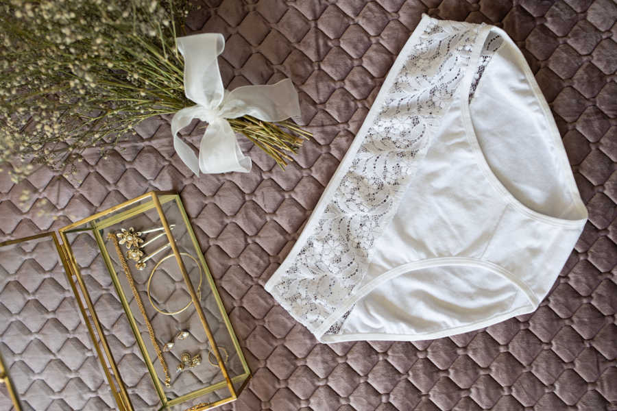 women's cotton and lace white underwear